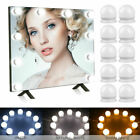 3 LED Bulbs 10 Lamp Lights Dimmable Kits Light Modes Vanity Color Mirror Makeup