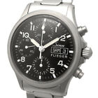 Sinn 356 FLIEGER Chronograph Day-Date Automatic Mens Watch Black Dial OHed