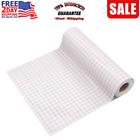 Vinyl Transfer Paper Tape Roll 12 x 50 FT Clear w Red Alignment Grid  Tape for