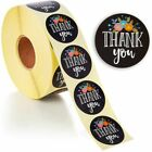 1 Roll of 500 Floral Thank You Stickers Round Sealing labels Stickers 15
