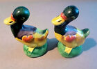 Vintage Ceramic Ducks Salt  Pepper Shakers Made in Japan Great Condition