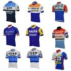 10 retro france cycling jersey short sleeve summer pink blue white bike cycling
