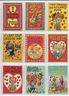 1959 Topps Funny Valentines Complete 66 Card Set - Near Mint