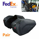 Pair 36-58L Motorcycle Racing Pannier Bags Luggage Saddle Bags With Rain Cover