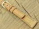 NOS Unused Vintage Seiko Tan Leather Watch Band w Gold Tone Buckle 12mm Ladies