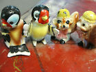 1950s Pair of Salt  Pepper Shakers Made in Japan Squirrel  Bird Colorful