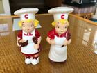 VINTAGE CAMPBELL SOUP KIDS SALT AND PEPPER SHAKER SET BOY AND GIRL 1950S