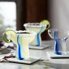 Libbey Blue Ribbon Stemless Margarita Glasses Set of 6