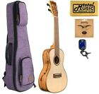 Kala KA FMCG Concert Ukulele Spruce Top w Purple Sonoma Case Bundle