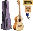 Kala KA FMTG Spruce Top Flame Maple Tenor Ukulele w Purple Sonoma Case Bundle