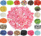 100Pcs Round Resin Buttons for Apparel Sewing Scrapbook DIY Crafts Mixed Size