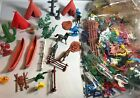HUGE LOT Wild West Cowboys Indians Toy Plastic Figures Soldiers Native American
