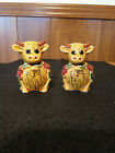 Salt and Pepper Shakers Florida Cows vintage retro