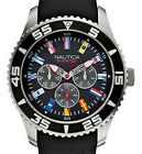 NAUTICA MEN'S N12626G NST 07 FLAG SPORTS MULTIFUNCTION WATCH, NEW IN BOX,