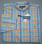 New POLO RALPH LAUREN Mens Big  Tall button down pocket shirt orange 2XB 2XT 4X