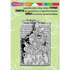 New Stampendous RUBBER STAMP HALLOWEEN FROG STEW WITCH CAULDRON cling
