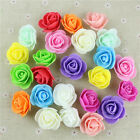 50 Mini Foam Roses Small Flowers Head Buds Wedding Bride Party Home Decoration