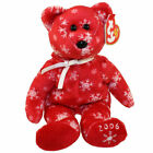 TY Beanie Baby - SNOWBELLES the Bear (Red Version) (Hallmark Gold Crown) (9 inch