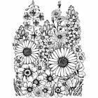 Crafty Individuals Unmounted Rubber Stamp 475X7 Pkg A Garden Of Flowers