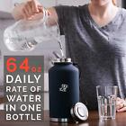 Water Bottle 64 oz Insulated Stainless Steel Vacuum Thermos Water Jug