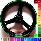 KAWASAKI CANDY LIME GREEN MOTORCYCLE GP RIM STRIPES WHEEL TAPE DECALS STICKERS