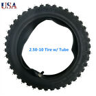 250 10 Tire with Tube for 50cc 70cc 90cc 110cc Dirt Pit Bike Coolster SSR