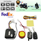 Anti-Theft Motorcycle Lock Security 2-Way Alarm Remote Control Engine Start -USA