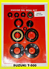 Suzuki T500 Oil Seal Kit Engine Titan 1968 1969 1970 1971 1972 1973 1974 1975