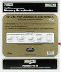 Pioneer Universal Top Loading Page Protectors 5 Pkg 12X15 W Black Inserts