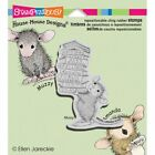 Stampendous House Mouse Cling Stamp Stack of Books