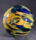Oregon Coast Beautiful Hand Blown Decorative Glass Float In Orange Yellow  Blue