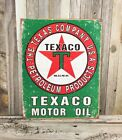 Texaco Motor Oil Petroleum Products Green Red Star Metal Tin Sign Vintage Garage