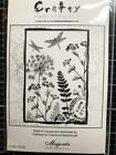 New Crafty Individuals Magenta Rubber Stamp FERN POSTAL DRAGONFLY COLLAGE cling