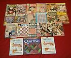 Box Lot of 18 Quilting Books Magazines Leaflets and Patterns