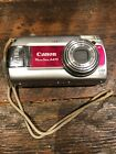 Canon PowerShot A470 7.1MP Digital Camera 3.4x Zoom - Silver & Red
