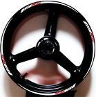 WHITE RED GP STYLE CUSTOM RIM STRIPES WHEEL DECALS TAPE STICKERS YAMAHA YZF R6