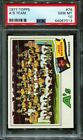 1977 TOPPS #74 A'S TEAM POP 6 PSA 10 B2760189-013