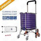 Folding Shopping Cart Grocery Trolley Laundry Stair Climbing Handcart Hot