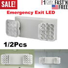 Adjustable Led Emergency Exit Sign Light Dual Head Battery Back-up Ultra Bright
