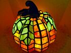 Tiffany Style 85 Patch the Pumpkin Stained Glass Accent Lamp