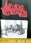 Funny Stoned Hippie Fox smoking hookah pipe rubber stamp UM nature animal exotic
