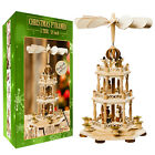 German Christmas Pyramid Wood Nativity Scene 18in Tabletop Christmas Decoration