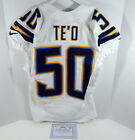 2013 San Diego Chargers Manti Te'o #50 Game Issued White Jersey SDC00094