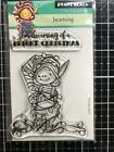 New Penny Black RUBBER STAMP clear CHRISTMAS BEAMING ELF Free USA shp