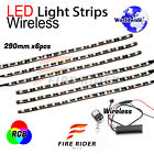 6 Pcs 290mm Motors Exterior Wheel RGB LED Lighting Strips For Moto Guzzi Griso