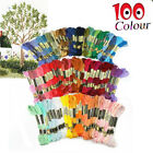 100~300 Pcs Multi Colors Cross Stitch Cotton Embroidery Thread Sewing Skeins