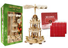 German Christmas PyramidNativity Scene 18in Tabletop Decoration and 20 Candles