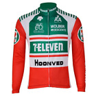 7 ELEVEN man green long sleeve cycling jersey black trousers Cycling Sets Winter