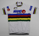 MAPEI Mens Cycling Jersey Short Sleeve Cycling Clothing Vintage Bike Wear