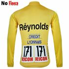 NEW Reynolds Thermal long sleeve Jersey Vintage yellow shirt cycling clothing